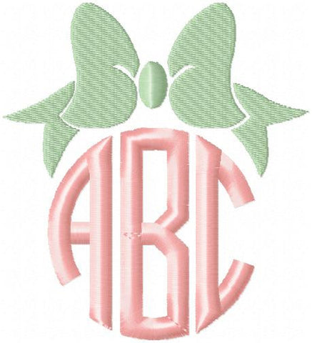 Bow Monogram Topper