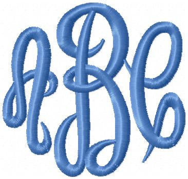 Empress Monogram Font - Machine Embroidery font - 1,2,3 inch sizes