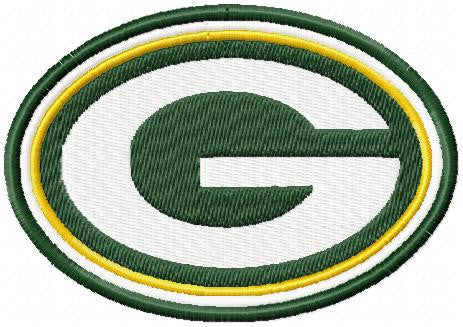 Greenbay Packers Team Logo - Machine Embroidery Design - Comes in 2,3,4,5,6 inch sizes