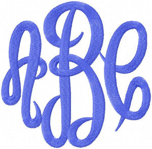 Empress Monogram Font - 4,5,6 inch Sizes - Machine Embroidery Font
