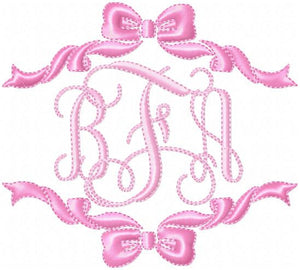Single and Double Bow Borders - Comes in 4,5,6,7,8 Inch sizes each