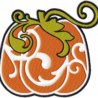 Damask Pumpkin - Comes in 4,5,6 inch Sizes