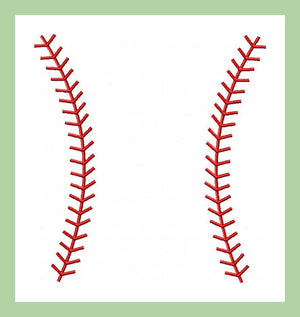 Baseball Stitches comes in 4 sizes 3x3 4x4 6x6 8x8