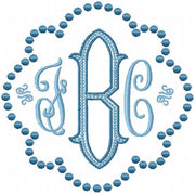 Dot Monogram Frame - Comes in 5 Sizes 4,5,6,7,8,9 inch sizes - Machine Embroidery Design