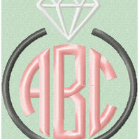 Engagement Ring  Monogram Border Frame - Topper