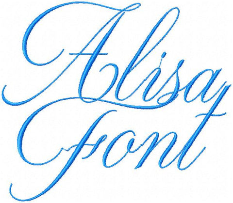 Alisa Font Set - Comes in 2.5 inch size