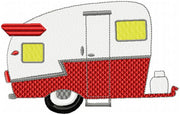 Shasta Camper - Machine Embroidery Design  Comes in 6 Sizes