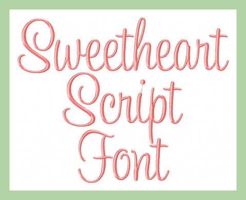 Sweetheart Font - 4 inch and 2 inch sizes