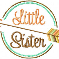 Little Sister comes in 4 sizes 4x3, 5x4,7x5 and 8x6- Machine Embroidery Design