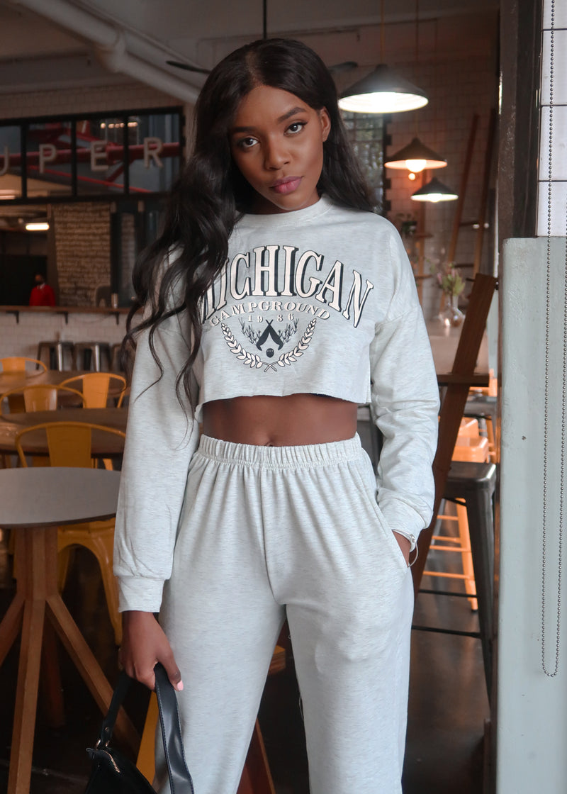 Michigan Grey Tracksuit