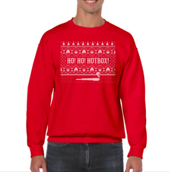 Ho Ho Hotbox Holiday Sweater (Red)