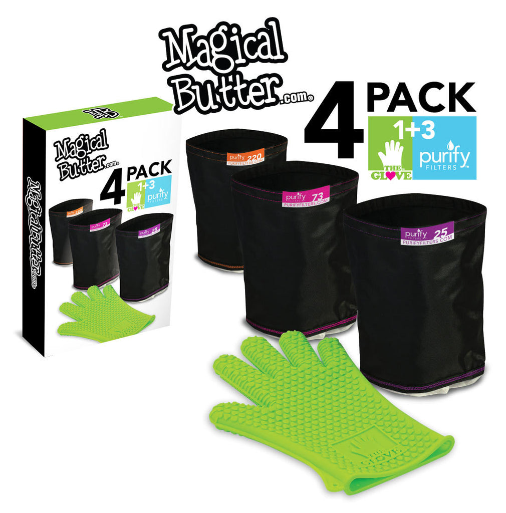 4Pack: 1 LoveGlove + 3 Purify Filters