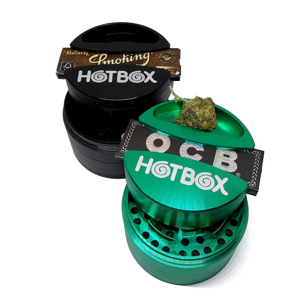 Hotbox 75mm Metal Grinder with Rolling Paper Slot
