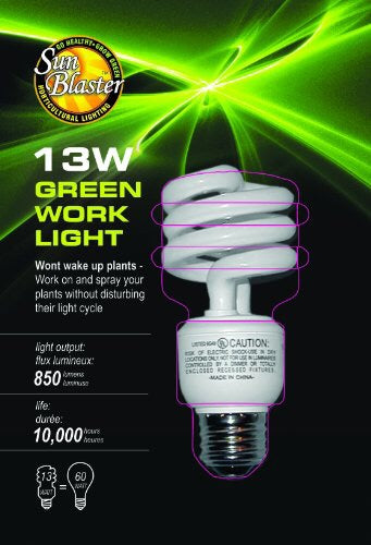 SunBlaster 13W  CFL Green Work Light