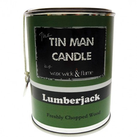 Wax Wick & Flame - Tin Man Candles - Lumberjack