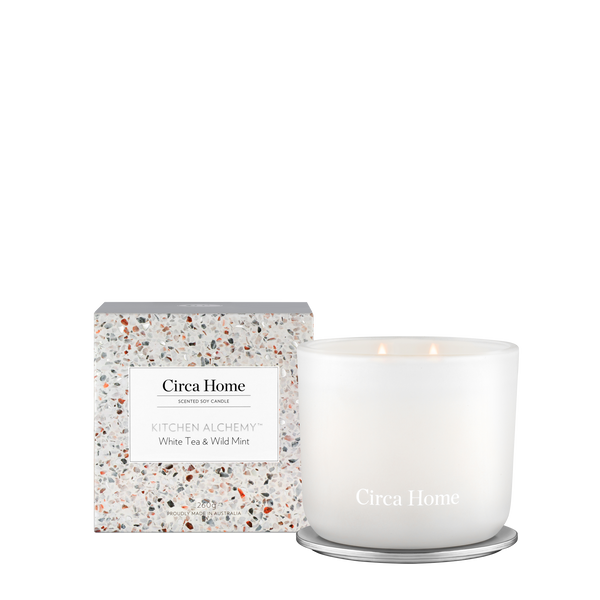 260g Kitchen Range - White Tea & Wild Mint Candle