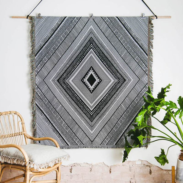 Dizzy Miss Lizzy - Woven Picnic Throw Rug