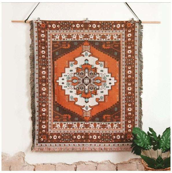 Norwegian Wood - Woven Picnic Throw Rug