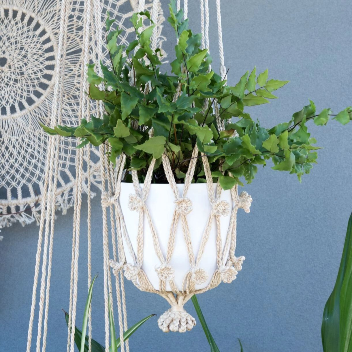 Big Flower Sika Macrame Hanger
