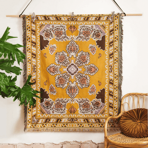 Here Comes The Sun - Woven Picnic Throw Rug