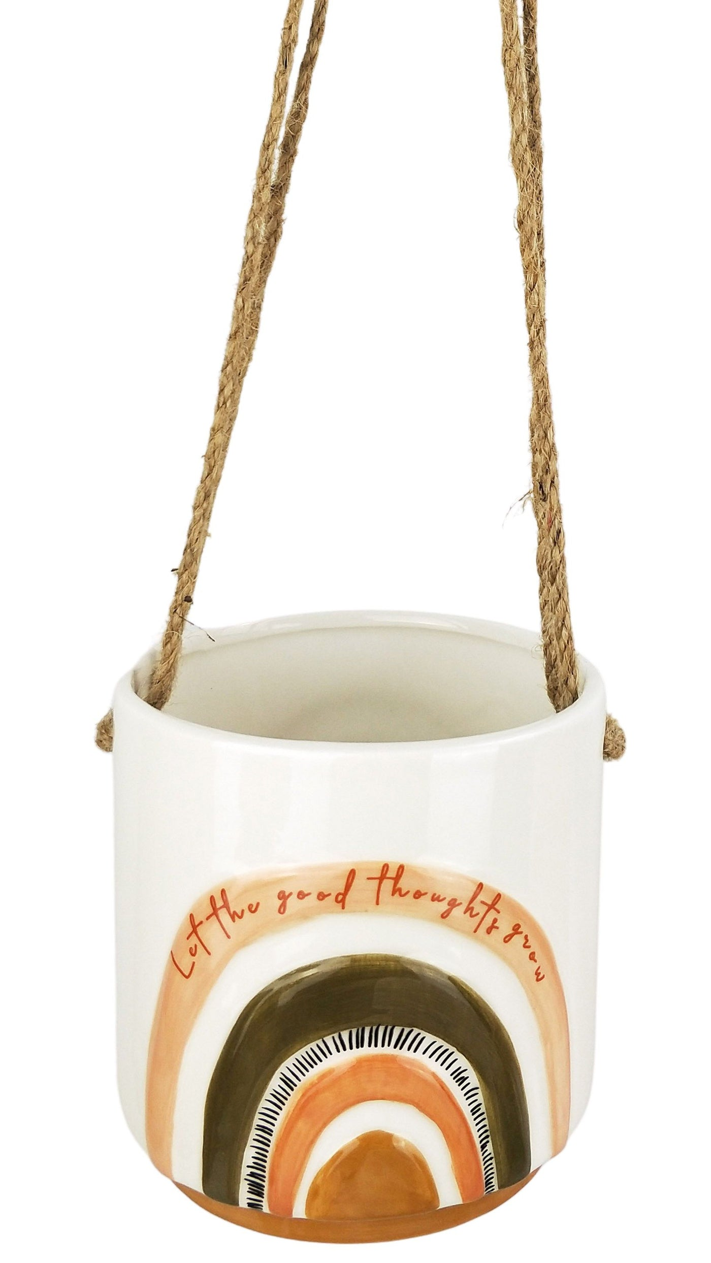 Woodstock Let The Good Thoughts Grow Hanging Planter Small