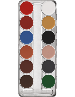 Kryolan AQUACOLOR PALETTE 12 COLORS