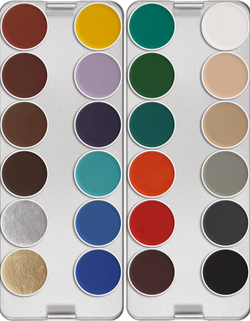 Kryolan AQUACOLOR PALETTE 24 COLORS
