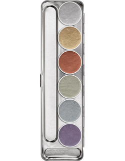 Kryolan AQUACOLOR METALLIC PALETTE 6 COLORS