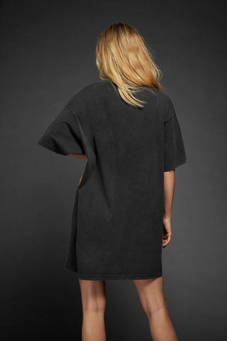 Anine Bing Harley Tee Dress - Charcoal