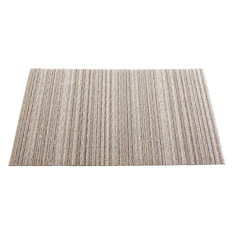 Chilewich Shag Skinny Stripe Big Mat - BIRCH
