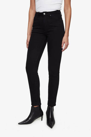 Anine Bing Jagger Jean Over Dye Black