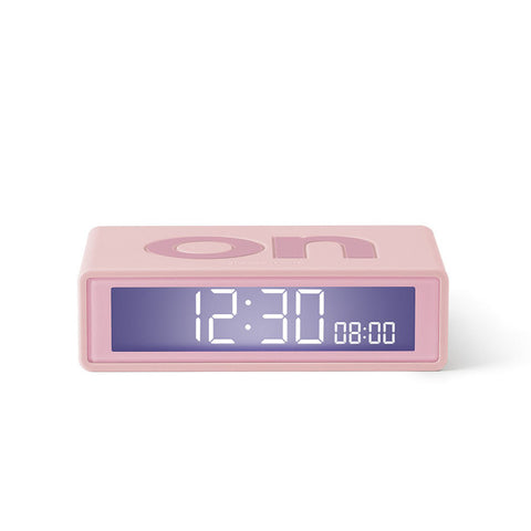 Lexon Flip Travel Alarm Clock - Pink