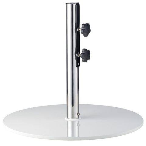 Basil Bangs Metal Umbrella Base - Round White