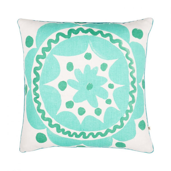 Bonnie & Neil Seaside Green Cushion 50cm
