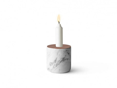 Menu Chunk of White Marble Copper large