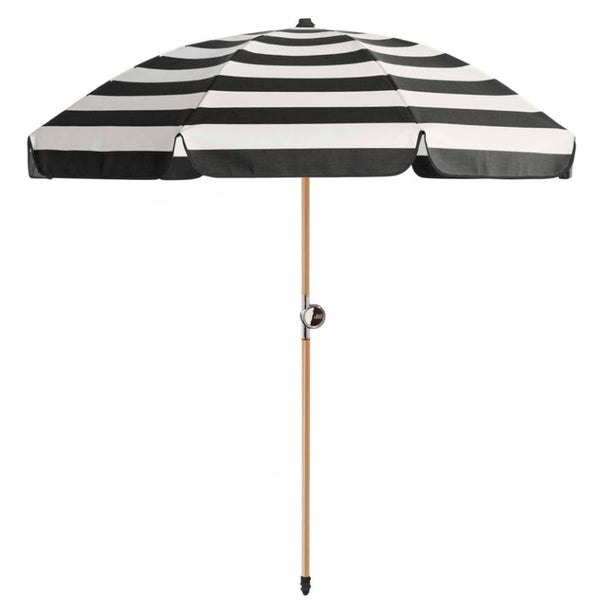 Basil Bangs Umbrella CHAPLIN STRIPE (Wood Pole)