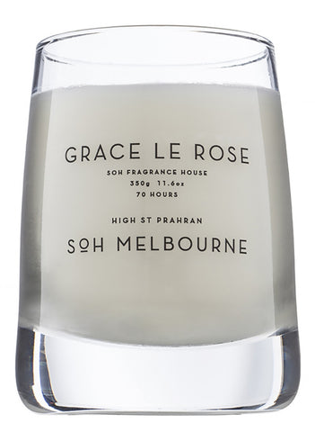 SOH Grace Le Rose Glass Candle