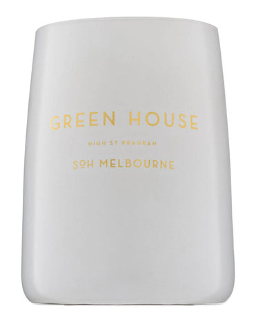 SOH Green House White Matte Glass Candle