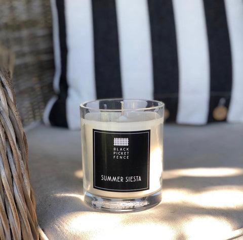 Black Picket Fence Candle - Summer Siesta