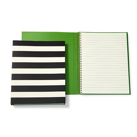 Kate spade spiral notebook black stripe