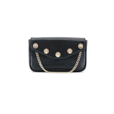 Dylan Kain The Ruby Convertible Bag - Black/Light Gold