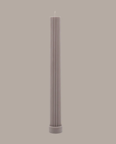 Black Blaze Column Pillar Candle - Beige