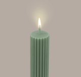 Black Blaze Column Pillar Candle - Eucalyptus