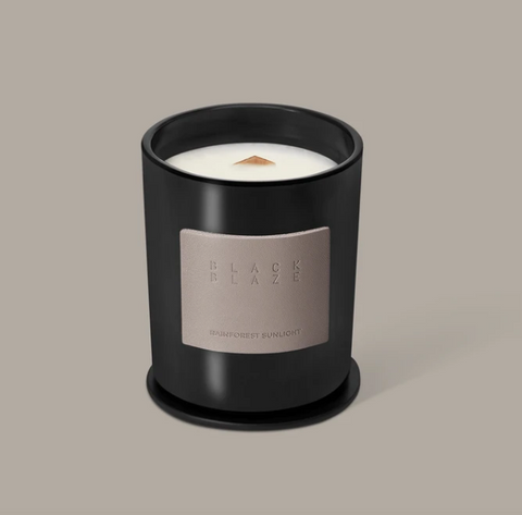 Black Blaze Rainforest Sunlight Scented Candle