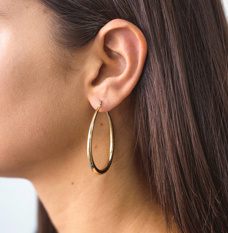 Jolie & Deen Lauren Hoop Earrings - GOLD