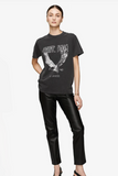 Anine Bing Lili Tee Eagle - Washed Black