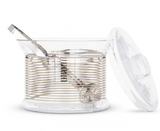 Tom Dixon Tank Ice Bucket & Tongs - Platinum Stripe