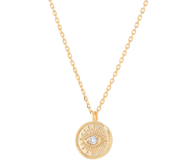 Jolie & Deen Emilia Eye Necklace - Gold