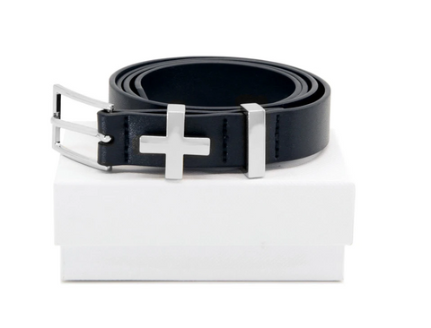 Dylan Kain The Brooklyn Belt Black Silver