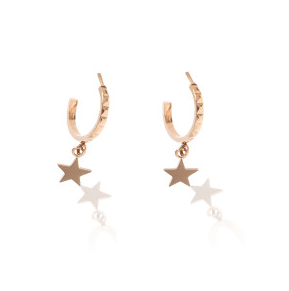 Carly Paiker Stellar Star Hoops - Rose Gold